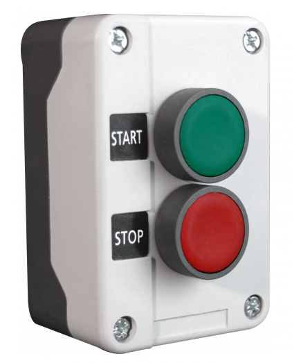 Complete Start-Stop Pushbutton Control Station, Plastic